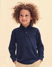 Kids Long Sleeve 65/35 Polo